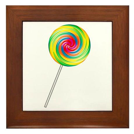 Swirly Lollipop Framed Tile