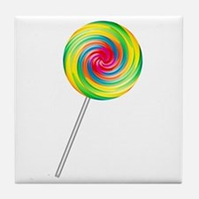 Swirly Lollipop Tile Coaster