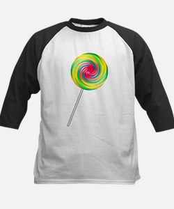 Swirly Lollipop Kids Baseball Jersey