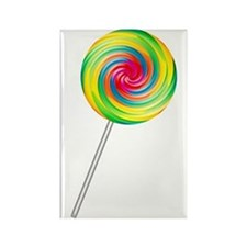 Swirly Lollipop Rectangle Magnet