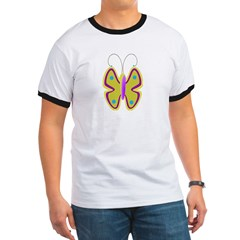 yellow butterfly T