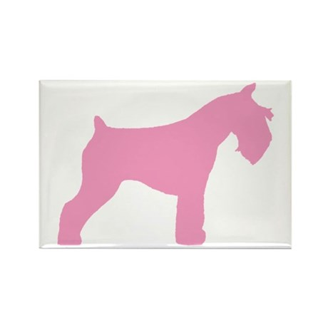 Pink Mini Schnauzer Rectangle Magnet
