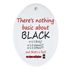 DOOL BASIC BLACK Oval Ornament