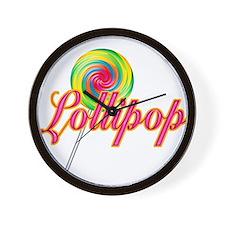 Text Lollipop Wall Clock
