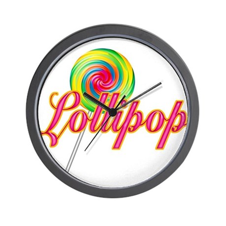 Text Lollipop Wall Clock