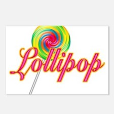 Text Lollipop Postcards (Package of 8)