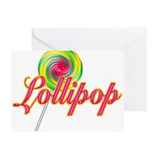 Text Lollipop Greeting Card