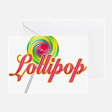 Text Lollipop Greeting Card