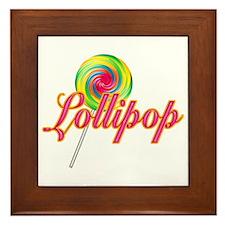 Text Lollipop Framed Tile