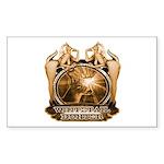 hunt naked Deer hunter gift t Sticker (Rectangular
