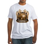 hunt naked Deer hunter gift t Fitted T-Shirt