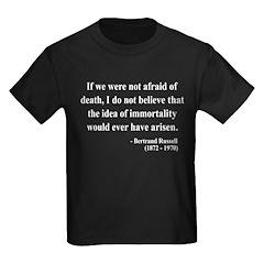 Bertrand Russell 5 Kids Dark T-Shirt