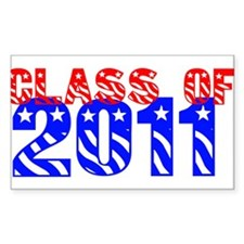 Class of 2010 Chrome Rectangle Decal