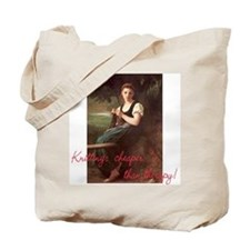Knitting Bag Tote Bag Fine art silly sentiment