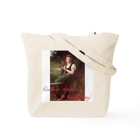 Knitting Bag Tote Bag Fine art silly sentiment