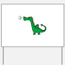 Cartoon Dragon Yard Sign