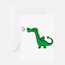 Cartoon Dragon Greeting Card