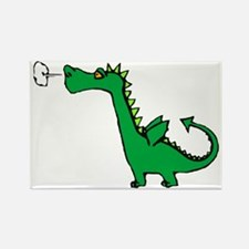 Cartoon Dragon Rectangle Magnet