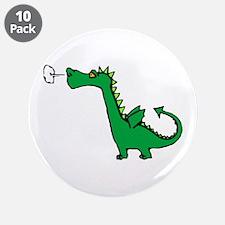 "Cartoon Dragon 3.5"" Button (10 pack)"