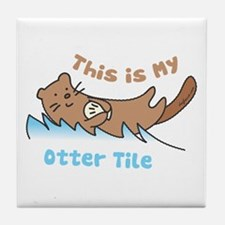 This Is My Otter Tile Coaster