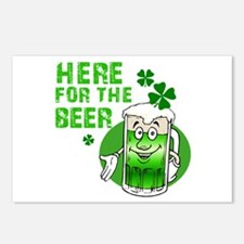 Here for the beer! St Pats Postcards (Package of 8