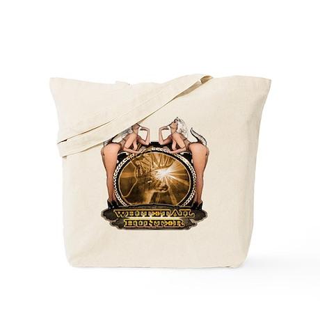 hunt naked Deer hunter gift t Tote Bag