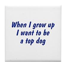 WIGU Top Dog Tile Coaster