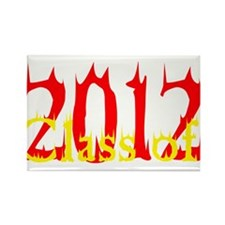 Class of 2012 Flames Rectangle Magnet