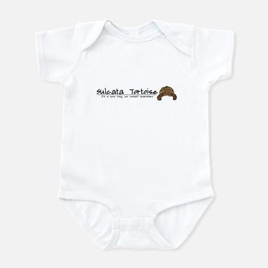 Herp Thing Sulcata Tortoise Baby Bodysuit