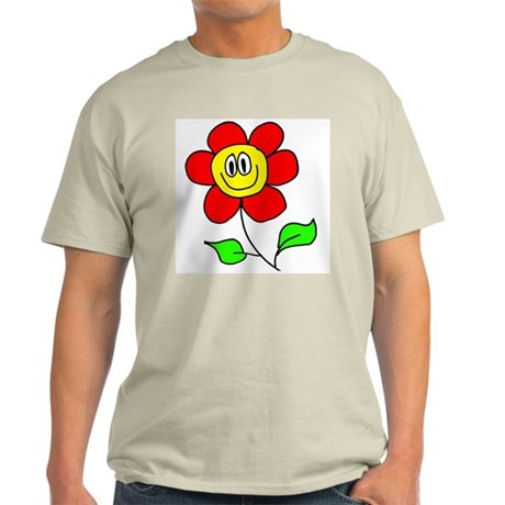 Smiling Flower Ash Grey T-Shirt