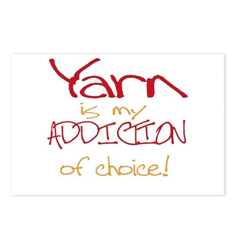 Yarn is my addiction of choic Postcards (Package o