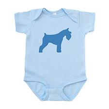 blue mini schnauzer Infant Bodysuit