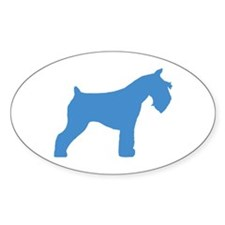 blue mini schnauzer Oval Decal