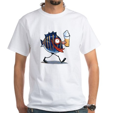 Drink Like a Fish White T-Shirt