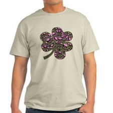 Gothic Pink Skulls Shamrock T-Shirt