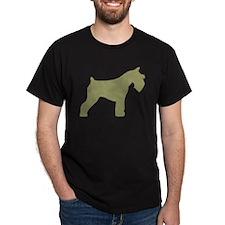 blue mini schnauzer T-Shirt