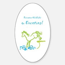 Eventing Horse Oval Decal