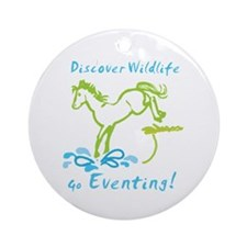 Eventing Horse Ornament (Round)