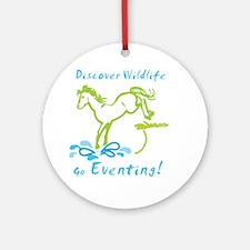 Eventing Horse Ornament (Round)