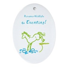 Eventing Horse Oval Ornament