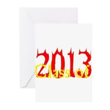 Class of 2013 Flames Greeting Cards (Pk of 10)