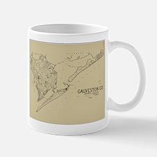 Vintage Map of Galveston Texas (1892) Mugs