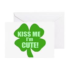 Kiss Me I'm Cute Greeting Cards (Pk of 10)