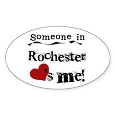 Rochester Loves Me Oval Decal