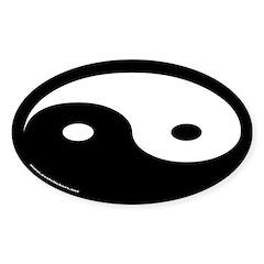 Yin Yang Euro Oval Stickers