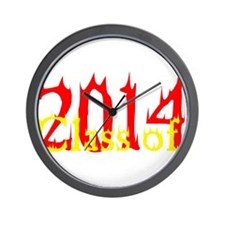 Class of 2014 Flames Wall Clock