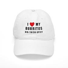 I Love Burritos Baseball Cap