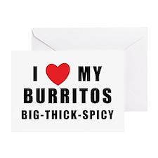 I Love Burritos Greeting Card