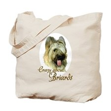Briard Crazy Tote Bag