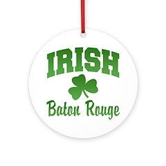 Baton Rouge Irish Ornament (Round)